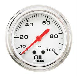 Speedway 2-5/8 Inch Mechanical Oil Pressure Gauge