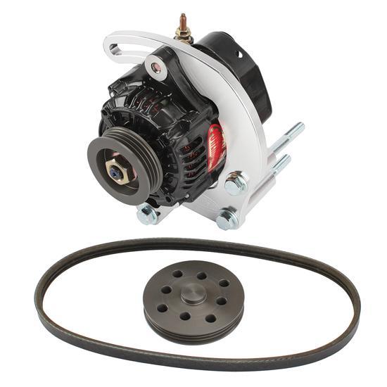 powermaster 8 801 sb chevy 50 amp mini alternator kit w serp belt free shipping speedway motors