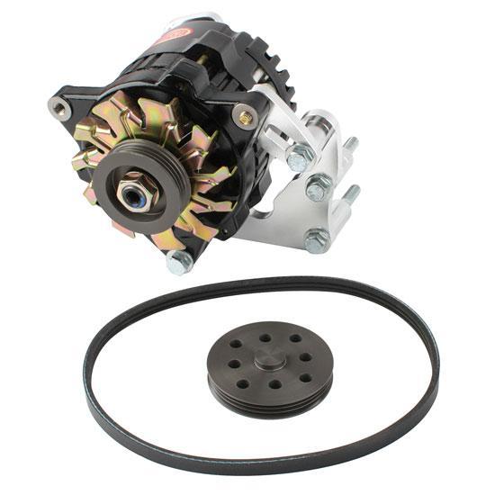new powermaster 8 722 sbc chevy mini 1 wire racing alternator kit 75 amp ebay
