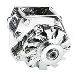 Powermaster 8-17926 Snug-Fit Chrome Alternator, 100 Amp