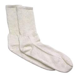 Speedway Fire Retardant Socks, White, Size Small