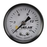 Fuelab 71502 Fuel Pressure Gauge, 0-15 PSI