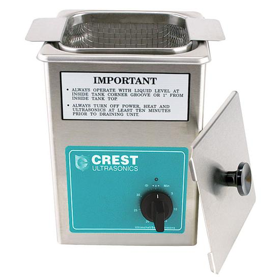 Crest Industrial Ultrasonic Parts Cleaner, Deluxe with Heater
