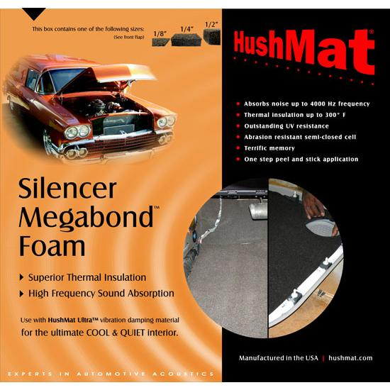 HushMat 20200 Silencer Megabond 1/4 In. Sound & Thermal Insulation Kit