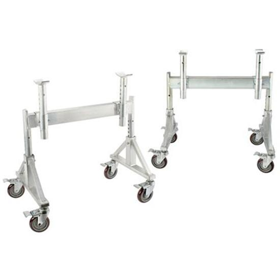 Sprint Car Aluminum Tru-Stands, Adjustable Height, Caster Wheels
