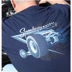 Speedway Ratical Tribute-T Navy Adult T-Shirt, Size Medium