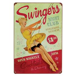Swingers Vintage Metal Sign