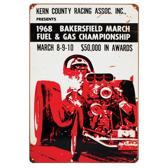 1968 Bakersfield Vintage Metal Sign