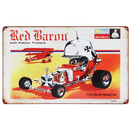 Red Baron Vintage Metal Sign