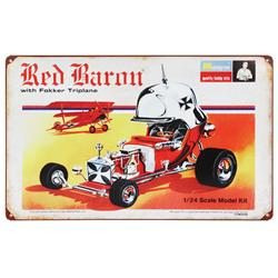 Red Baron Vintage Tin Sign