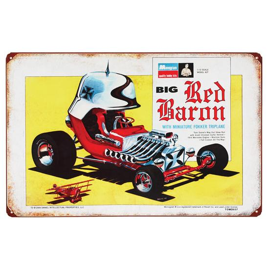Big Red Baron Vintage Tin Sign