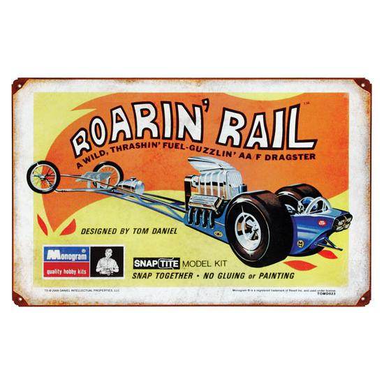 Roaring Rail Vintage Tin Sign