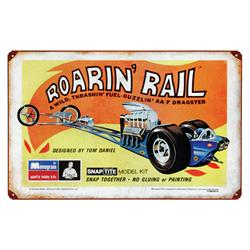 Roaring Rail Vintage Metal Sign