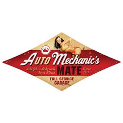 Auto Mechanic Vintage Metal Sign