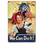 Rosie the Riveter Vintage Tin Sign