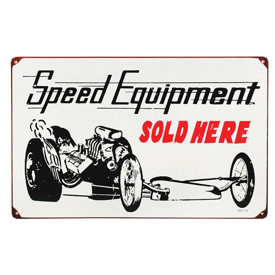 Speed Equipment Dragster Vintage Metal Sign