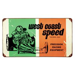 West Coast Speed Vintage Metal Sign