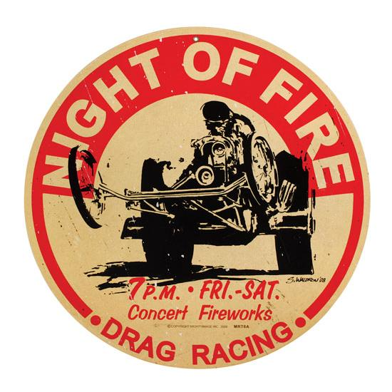 Fire Vintage Metal Sign