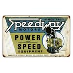 Speedway Power and Speed Vintage Tin Sign