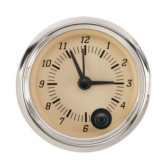 Omega Kustom 920132 Tan Face Clock, 2-1/16 Inch