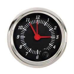 Docs Kustom 930132 Omega Clock, 2-1/16, Black Face