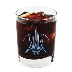 Pinstriped Rocks Glass, Red