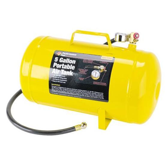 Horizontal Portable Air Tank, 5 Gallon, Steel
