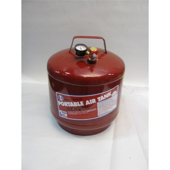 Garage sale vertical portable air tank steel gallon