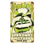 Speedway Spun Tank Metal Sign