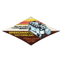 Speedway Blower-Boost Metal Sign