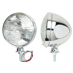 Stainless Steel Dietz Type Headlights, Standard Bulb