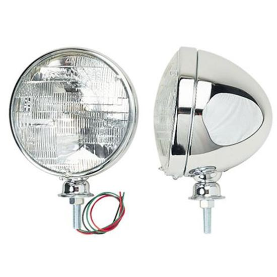 Stainless Steel Dietz Type Headlights, Halogen Bulb