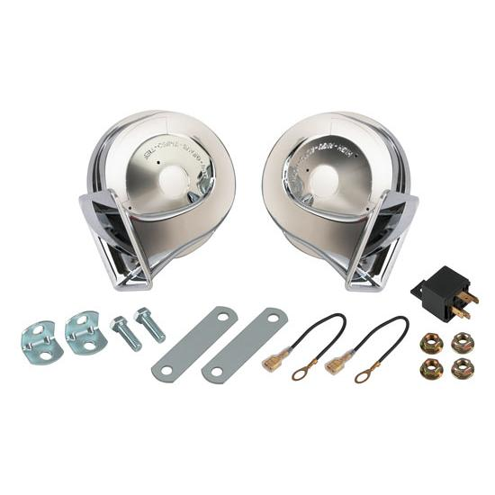 Chrome 12 Volt Horns