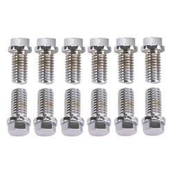 King Chrome Hex Header Bolts, 3/8-16 x 3/4 Inch, Set/12