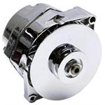 King Chrome 1969-Up GM Alternator, 63 Amp, 3-Wire, Internal Regulator