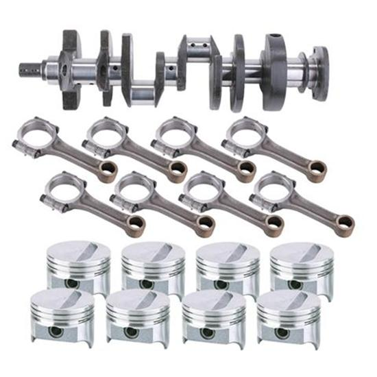 Small Block Chevy Rotating Assembly, 350 Flat Top-4 Valve Relief, 5.7 Rod