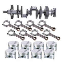 SB Chevy Rotating Assembly, 383 Flat Top-2 Valve Relief, 6 Rod
