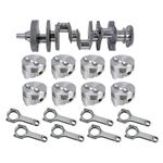 Forged Small Block Chevy Rotating Assembly, 350 Flat Top, H-Beam, 6 Rod