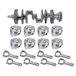 Forged Small Block Chevy Rotating Assembly, 350 Dome, H-Beam, 6 Rod