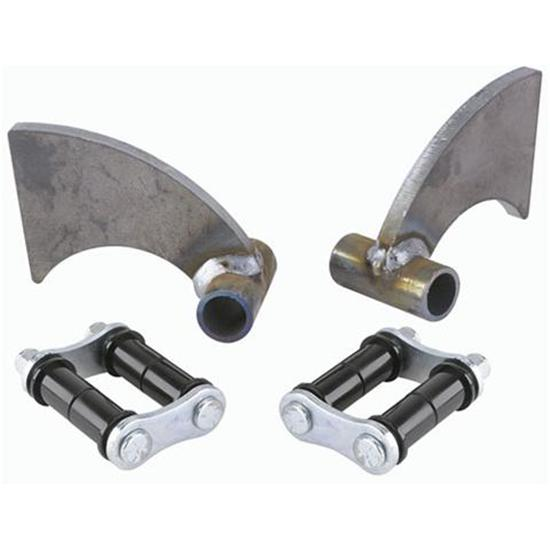 Transverse rear leaf spring axle mounting brackets model