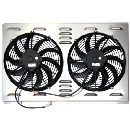 dual inch fan shroud combo w x h shipping dual 12 inch fan shroud combo 28 w x 17 h