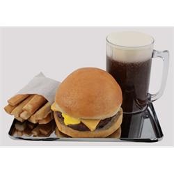 Burger Style Drive-In Chrome Tray-Classic 50s Look