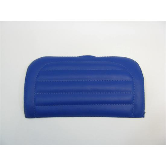 Garage sale padded vinyl seat cover blue for Garage seat nevers