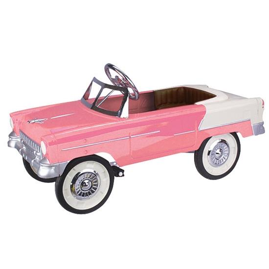 1955 Pink and White Chevy Pedal Car
