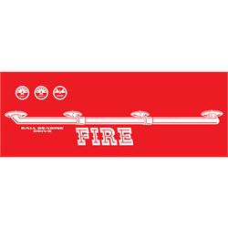 Murray® Flat Face Super Deluxe Fire Truck 1963-64 Graphic