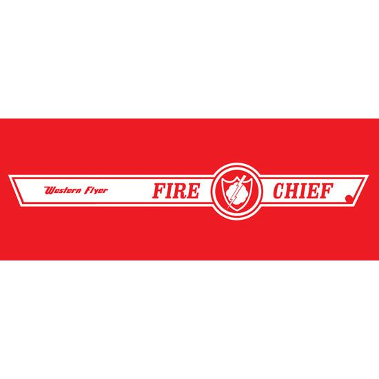 Murray Tooth Grille Western Flyer Fire Chief Graphic, White Stripe