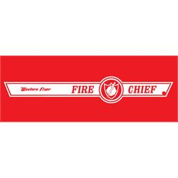 Murray® Tooth Grille Western Flyer Fire Chief Graphic, White Stripe