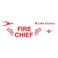 Garton Kidillac Fire Chief 1952-54, 1957 Graphic