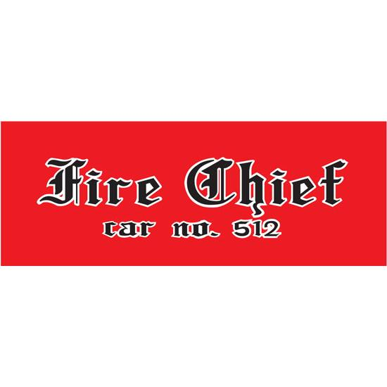 AMF Fire Chief 512 1970-72 Pedal Car Graphic