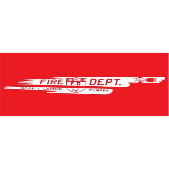 AMF 508-519 Fire Dept. Hook & Ladder Pumper 508 1963 Pedal Car Graphic